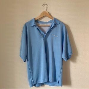 COLUMBIA // Blue PFG Short Sleeve Polo